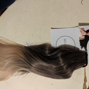 Bellami dark brown ombre pony